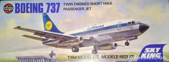 LOTE MAQUETA VINTAGE AIRFIX - AVION COMERCIAL DE PASAJEROS - BOEING 737 - ESCL 1/144 (Juguetes - Modelismo y Radio Control - Maquetas - Aviones y Helicópteros)