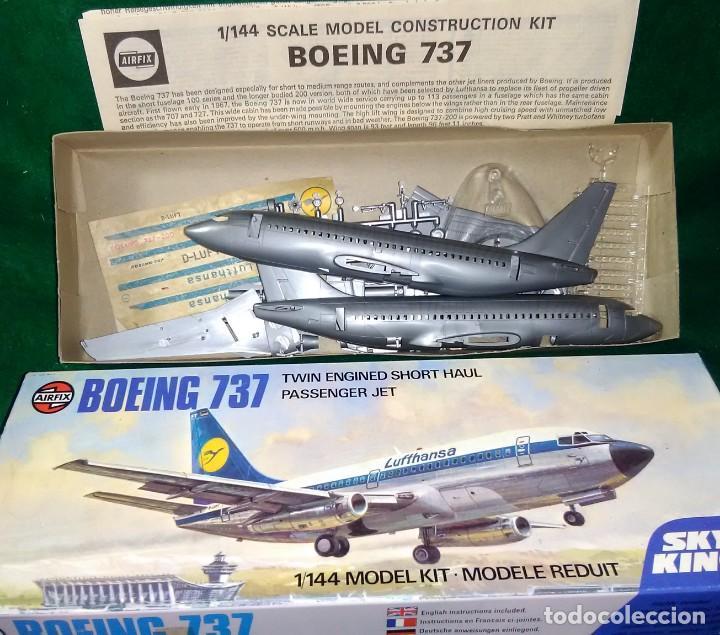 Maquetas: LOTE MAQUETA VINTAGE AIRFIX - AVION COMERCIAL DE PASAJEROS - BOEING 737 - ESCL 1/144 - Foto 2 - 201591093