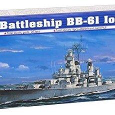 Maquetas: LOTE MAQUETA BARCO / NAVIO / BUQUE - TRUMPETER - US BATTLE SHIP BB 61 IOWA - LONG 39 CM - ESCL 1/700. Lote 201605953