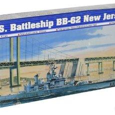 Maquetas: LOTE MAQUETA NAVIO / BUQUE - TRUMPETER - US BATTLE SHIP BB 62 NEW JERSEY - LONG 39 CM - ESCL 1/700. Lote 201611077