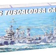 Maquetas: LOTE MAQUETA NAVIO / BUQUE - TRUMPETER - WWII USS TUSCALOOSA CA 37 - LONG 26 CM - ESCL 1/700. Lote 201612528