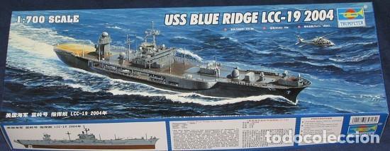 LOTE MAQUETA BARCO / NAVIO / BUQUE - TRUMPETER - USS BLUE RIDGE LCC 19 - LONG 28 CM - ESCL 1/700 (Juguetes - Modelismo y Radiocontrol - Maquetas - Barcos)