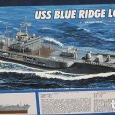 Maquetas: LOTE MAQUETA BARCO / NAVIO / BUQUE - TRUMPETER - USS BLUE RIDGE LCC 19 - LONG 28 CM - ESCL 1/700. Lote 201617411