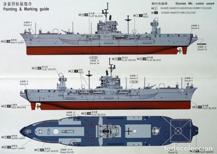 Maquetas: LOTE MAQUETA BARCO / NAVIO / BUQUE - TRUMPETER - USS BLUE RIDGE LCC 19 - LONG 28 CM - ESCL 1/700 - Foto 2 - 201617411