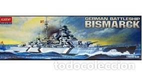 LOTE MAQUETA BARCO / NAVIO / BUQUE - ACADEMY - ACORAZADO BISMARCK WWII - LONG 30 CM - ESCL 1/800 (Juguetes - Modelismo y Radiocontrol - Maquetas - Barcos)