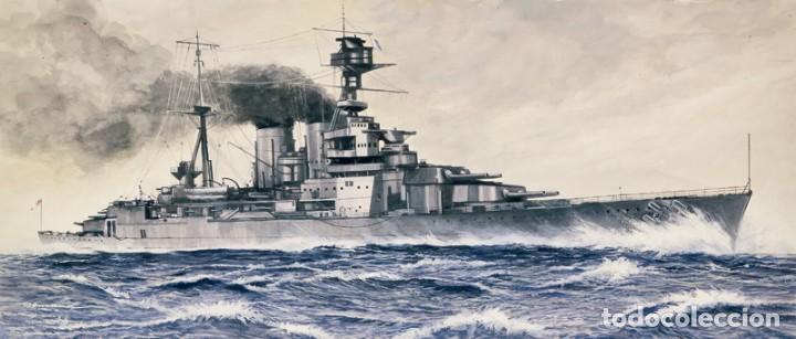 LOTE MAQUETA BARCO / NAVIO / BUQUE ITALERI - HMS HOOD CRUCERO INGLES WWII - LONG 36 CM - ESCL 1/720 (Juguetes - Modelismo y Radiocontrol - Maquetas - Barcos)