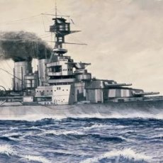Maquetas: LOTE MAQUETA BARCO / NAVIO / BUQUE ITALERI - HMS HOOD CRUCERO INGLES WWII - LONG 36 CM - ESCL 1/720. Lote 201620702