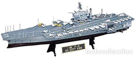 Maquetas: LOTE MAQUETA NAVIO / BUQUE - ACADEMY - PORTAAVIONES KITTY HAWK USS CV 63 - LONG 41 CM - ESCL 1/800 - Foto 2 - 201621737
