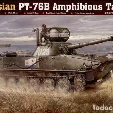 Maquetas: LOTE MAQUETA MILITAR - BLINDADO - TRUMPETER - RUSSIAN PT 76B - TANKE ANFIBIO - ESCL 1/35. Lote 201636063
