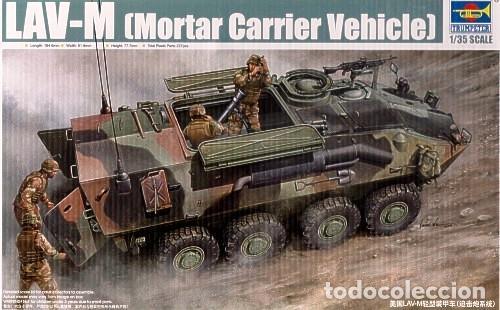 LOTE MAQUETA MILITAR - BLINDADO - TRUMPETER - USMC LAV M - VEHICULO CON MORTERO - ESCL 1/35 (Juguetes - Modelismo y Radiocontrol - Maquetas - Barcos)