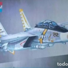 Maquetas: LOTE MAQUETA AVION CAZA BOMBARDERO MONOGRAM - F 14A TOMCAT US NAVY - LONG 42 CM - ESCL 1/48. Lote 201639948