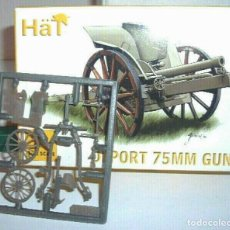 Maquetas: HAT 1/72 ( 1 PLANCHA / 1 SPRUE ) DEPORT 75MM GUN (BRITISH GUN).. Lote 201855397