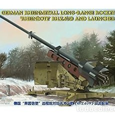Maquetas: GERMAN RHEINMETALL LONG-RANGE ROCKET AND LAUNCHER BRONCO MODELS 1/35. Lote 202366901