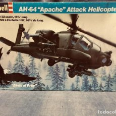 Maquetas: MAQUETA EN CAJA SIN MONTAR HELICOPTERO REVELL AH 64 APACHE ATTACK HELICOPTER 1:32 COMPLETO 50X35X8CM. Lote 202475830