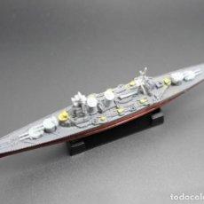 Maquetas: LOTE MAQUETA ECONOMICA BARCO / NAVIO / BUQUE - WWII CRUCERO HMS HOOD INGLATERRA - LONG 15 CM. Lote 202479541