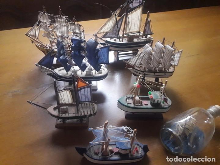 8 MAQUETAS DE BARCOS ,MIDEN DESDE 24 CM. A 16 (Juguetes - Modelismo y Radiocontrol - Maquetas - Barcos)