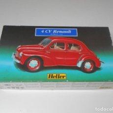 Maquetas: MAQUETA HELLER 4 CV RENAULT 1/43 REF 80174 COCHE MODEL CAR FRANCE VOITURE ALFREEDOM 1:43. Lote 202567797