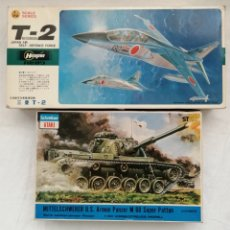 Maquetas: MAQUETAS TANQUE M60 SUPER PATTON Y AVIÓN MITSUBISHI T2. Lote 202567866