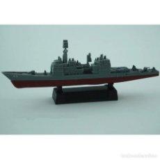 Maquetas: LOTE MAQUETA ECONOMICA BARCO / NAVIO / BUQUE - CRUCERO USS VINCENNES CG 49 - LONG 15 CM. Lote 202771981