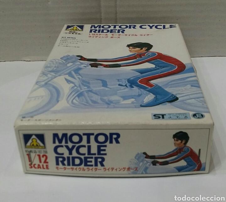 Maquetas: AOSHIMA MOTOR CYCLE RIDER. NUEVO EN CAJA. INTERIOR PRECINTADO. ESCALA 1/12. MOTORISTA. MOTO. KIT. - Foto 3 - 203079021