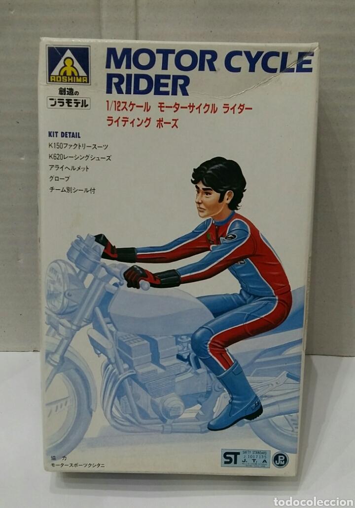 AOSHIMA MOTOR CYCLE RIDER. NUEVO EN CAJA. INTERIOR PRECINTADO. ESCALA 1/12. MOTORISTA. MOTO. KIT. (Juguetes - Modelismo y Radiocontrol - Maquetas - Coches y Motos)
