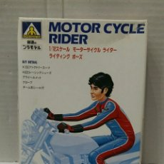 Maquetas: AOSHIMA MOTOR CYCLE RIDER. NUEVO EN CAJA. INTERIOR PRECINTADO. ESCALA 1/12. MOTORISTA. MOTO. KIT.. Lote 203079021