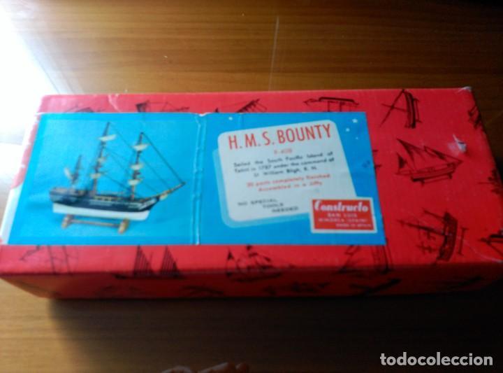 MAQUETA H.M.S. BOUNTY - R-408 - CONSTRUCTO SAN LUIS MINORCA SPAIN - AÑOS 70 - COMPLETO!!! (Juguetes - Modelismo y Radiocontrol - Maquetas - Barcos)