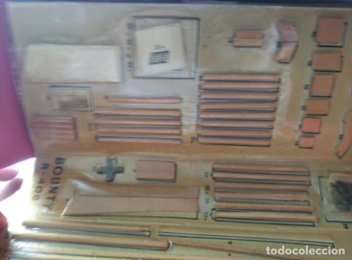 Maquetas: MAQUETA H.M.S. BOUNTY - R-408 - CONSTRUCTO SAN LUIS MINORCA SPAIN - AÑOS 70 - COMPLETO!!! - Foto 6 - 203766295