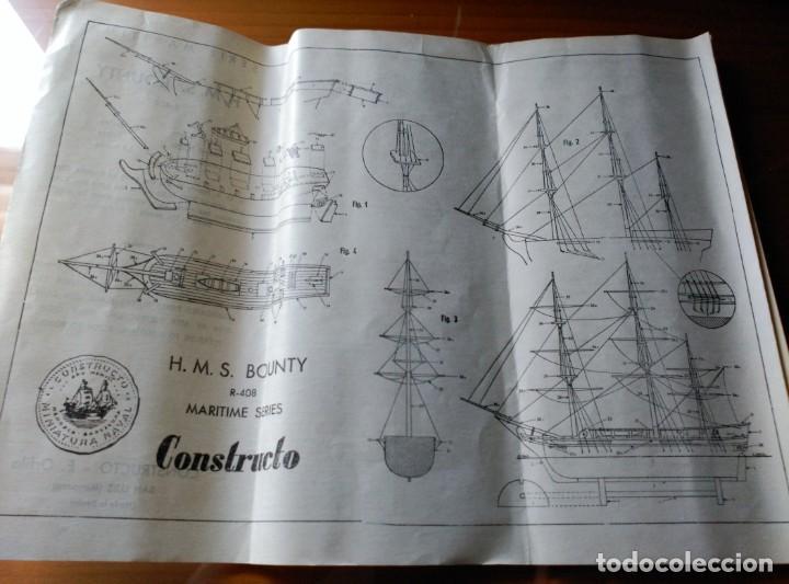 Maquetas: MAQUETA H.M.S. BOUNTY - R-408 - CONSTRUCTO SAN LUIS MINORCA SPAIN - AÑOS 70 - COMPLETO!!! - Foto 8 - 203766295