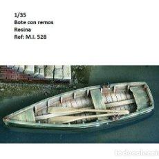 Maquetas: WWII BOTE BARCA CON REMOS 1/35 RESINA ACCESORIOS DIORAMA. Lote 232919850