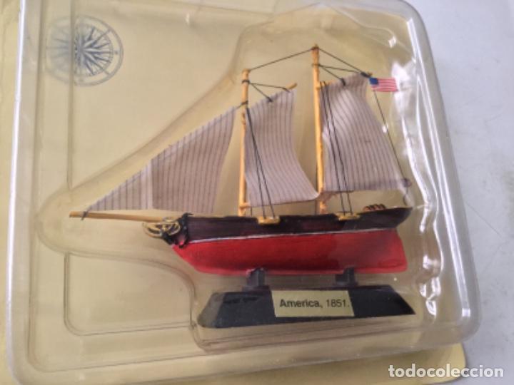 BARCO- AMERICA 1851- 9X9 CM. APROX. (Juguetes - Modelismo y Radiocontrol - Maquetas - Barcos)