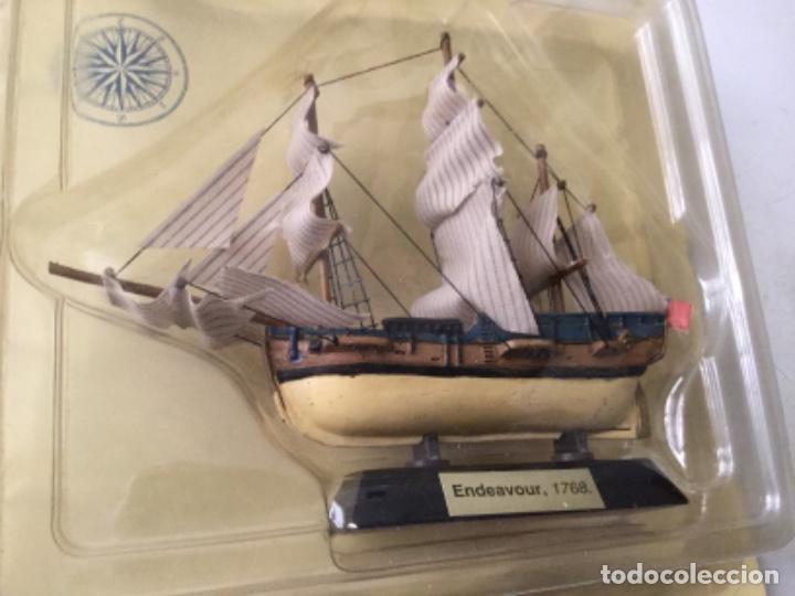 BARCO- ENDEAVOUR, 1768- 9X10CM. APROX. (Juguetes - Modelismo y Radiocontrol - Maquetas - Barcos)