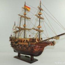 Maquetas: ANTIGUA MAQUETA DE BARCO GALEON S. MATEO SIGLO XV. Lote 204623811