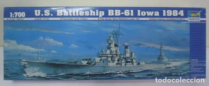 ACORAZADO US IOWA BB 61 1984 TRUMPETER 1/ 700 REF 05701. BATTLESHIP MAQUETA NUEVA A ESTRENAR (Juguetes - Modelismo y Radiocontrol - Maquetas - Barcos)