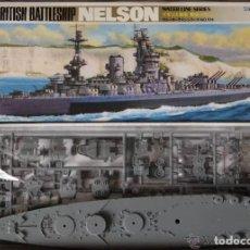 Maquetas: ACORAZADO HMS NELSON TAMIYA 1/700 REF 77504 BATTLESHIP. WATER LINE SERIES. MAQUETA NUEVA A ESTRENAR. Lote 204672992