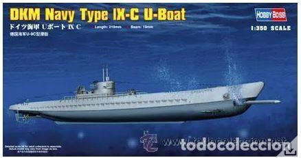SUBMARINO GERMAN DKM U-BOAT TYPE IX C - HOBBY BOSS 1/350. MAQUETA NUEVA A ESTRENAR (Juguetes - Modelismo y Radiocontrol - Maquetas - Barcos)