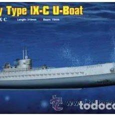 Maquetas: SUBMARINO GERMAN DKM U-BOAT TYPE IX C - HOBBY BOSS 1/350. MAQUETA NUEVA A ESTRENAR. Lote 204677105