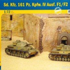 Macchiette: 7514 ITALERI 1/72 WWII GERMAN PZ KPFW 161 IV AUSF F1/ F2 2 FAST ASSEMBLY MODELS). Lote 204782611
