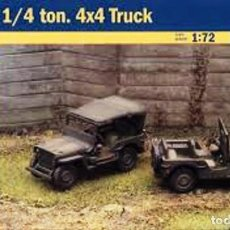 Maquetas: 7506 ITALERI 1/72 WWII US 1/4 TON. 4X4 TRUCK (FAST ASSEMBLY MODELS). Lote 204782686