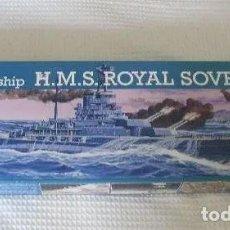Maquetas: ACORAZADO HMS ROYAL SOVEREIGN. BATTLESHIP. REVELL 1/500. MAQUETA NUEVA A ESTRENAR. Lote 205006885