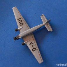 Maquetas: PEQUEÑO AVIÓN METÁLICO. JUNKERS JU-52 LUFTHANSA. SCHABAK. FABRICADO EN ALEMANIA.. Lote 205038138