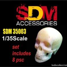 Maquettes: SDM - SET DE 8 CALAVERAS 3D 1/35 35003. Lote 205061957