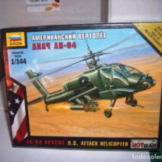 Maquetas: Z7408 ZVEZDA 1/144 AH-64 APACHE US ATTACK HELICOPTER. Lote 205547321