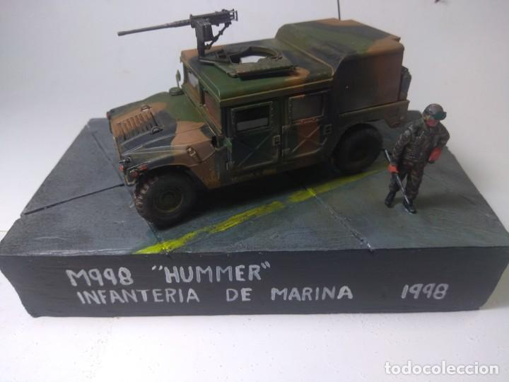 DIORAMA-MAQUETA HUMMER M 998 IFANTERIA DE MARINA ESPAÑOLA -AÑO 1998 (Juguetes - Modelismo y Radiocontrol - Maquetas - Militar)