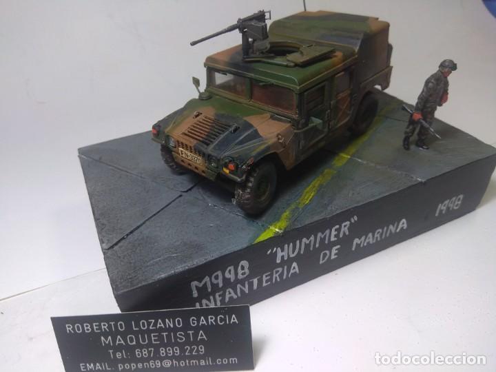 Maquetas: DIORAMA-MAQUETA HUMMER M 998 IFANTERIA DE MARINA ESPAÑOLA -AÑO 1998 - Foto 2 - 205711347