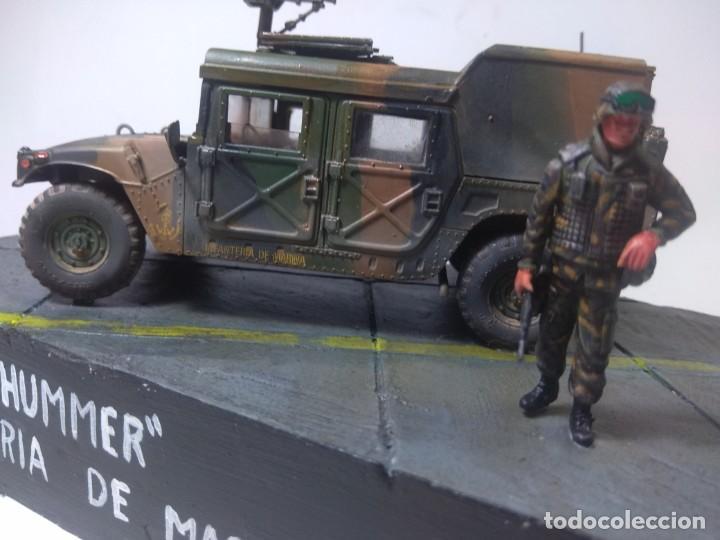 Maquetas: DIORAMA-MAQUETA HUMMER M 998 IFANTERIA DE MARINA ESPAÑOLA -AÑO 1998 - Foto 7 - 205711347
