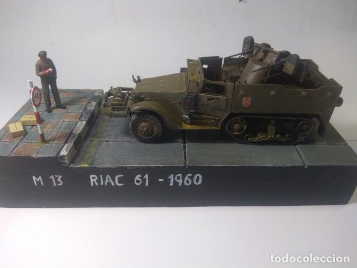DIORAMA MAQUETA-SEMIORUGA-M13 EJERCITO ESPAÑOL AÑO 1960 (Juguetes - Modelismo y Radiocontrol - Maquetas - Militar)