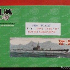 Maquetas: S-5 SUBMARINO SOVIÉTICO. BUM ESCALA 1/400 MODELO NUEVO. Lote 205875000