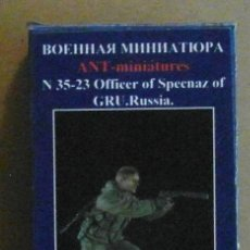 Maquetas: ANT-MINIATURES 35-23 OFICIAL TROPAS ESPECIALES GRU RUSIA 1/35 (RESINA). Lote 206336012