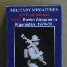 Maquetas: ANT-MINIATURES 35-50 PARACAIDISTA SOVIETICO AFGANISTAN 1979-1989 1/35 (RESINA). Lote 206336270